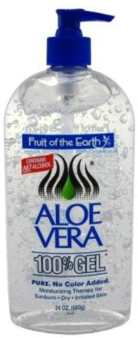 Fruit Of The Earth Aloe Vera 100% Gel, Crystal Clear (3 Pack)