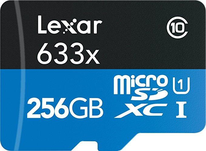Thẻ nhớ Lexar với bộ điều hợp SD Hiệu suất cao 633x 16GB Thẻ nhớ Micro SDHC UHS-I