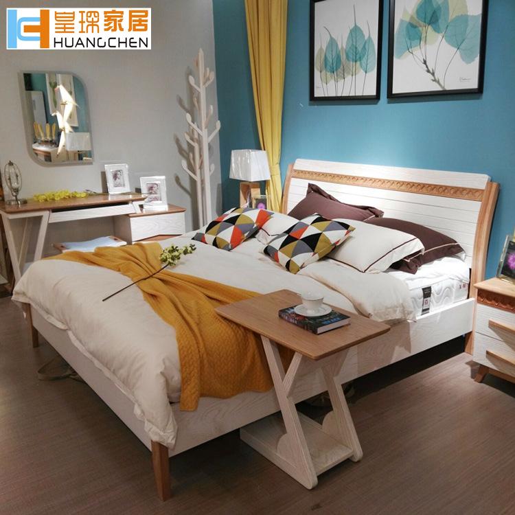 phòng giường phòng ngủ nhà cửa Bắc Mỹ đặc biệt. Nội thất gỗ thật đấy 1,5 mét giường, giường nhà máy