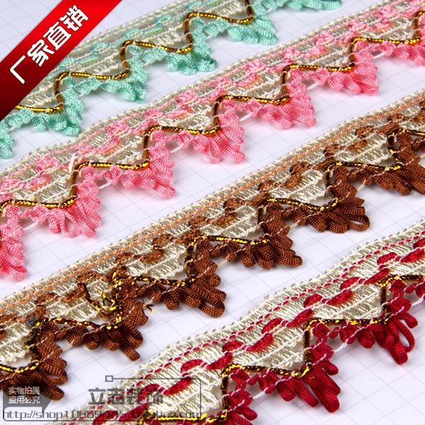 Châu âu rèm ren phụ kiện trang trí phụ kiện cạnh spike wedding sofa quần áo tua ngược tam giác ren
