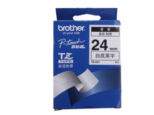 Brother Brothers TZe-251 Nhãn dán màu đen trên nền trắng (8 m) (dành cho PT-2430PCz 2730 3600 7600 9