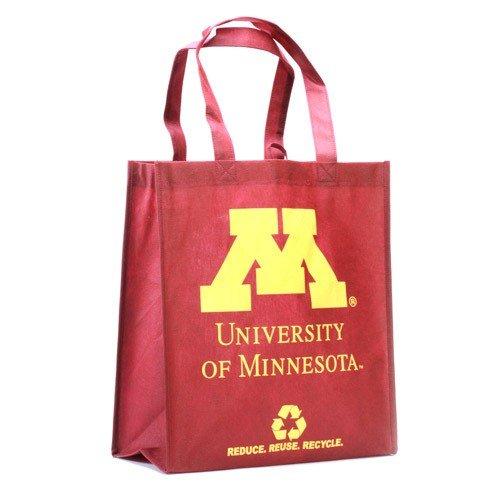 NCAA Minnesota vàng Gophers in không dệt Polypropylene tái sử dụng hàng tạp hóa tote, một kích thước