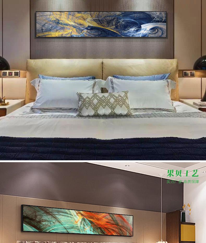 Nhà sản xuất ngủ giường treo một bức tranh vẽ nhà mẫu, nghệ thuật trừu tượng hiện đại đơn giản. Khác