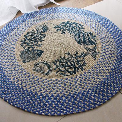 Linum Dulcis tự nhiên một mét đất hình tròn đường kính latex Pad thảm nhà bán sỉ