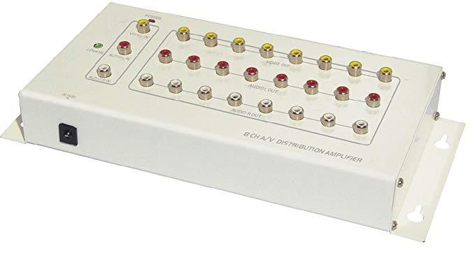Đầu vào và đầu ra Audio Video Splitter (RCA) Power Adapter Phụ kiện