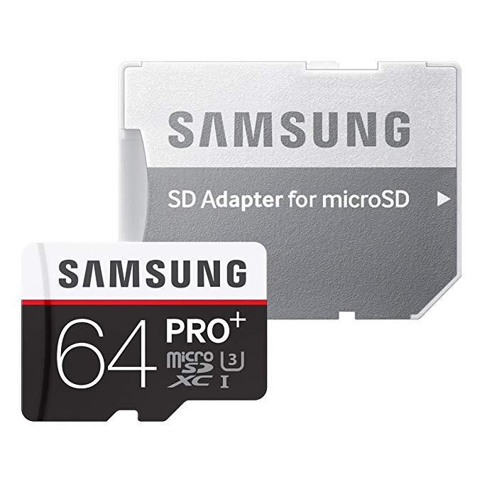 Thẻ nhớ Samsung microSDXC Samsung 64GB PRO + Class10 UHS-I U3 (Tốc độ đọc MAX95MB / s: Tốc độ ghi MA