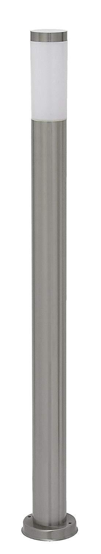 Sakuraba Lux A + + đến E, Inox Torch ánh sáng đường phố, kim loại, 60 Watts, E27, thép không gỉ / tr