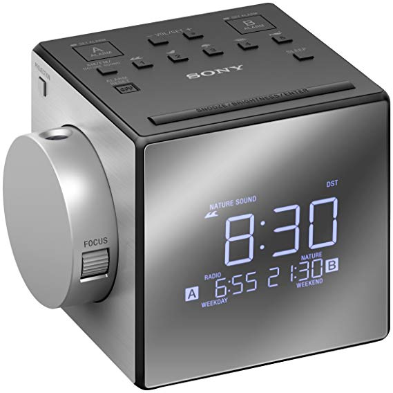 Đồng hồ báo thức Sony Sony ICF-C1PJ với máy chiếu thời gian