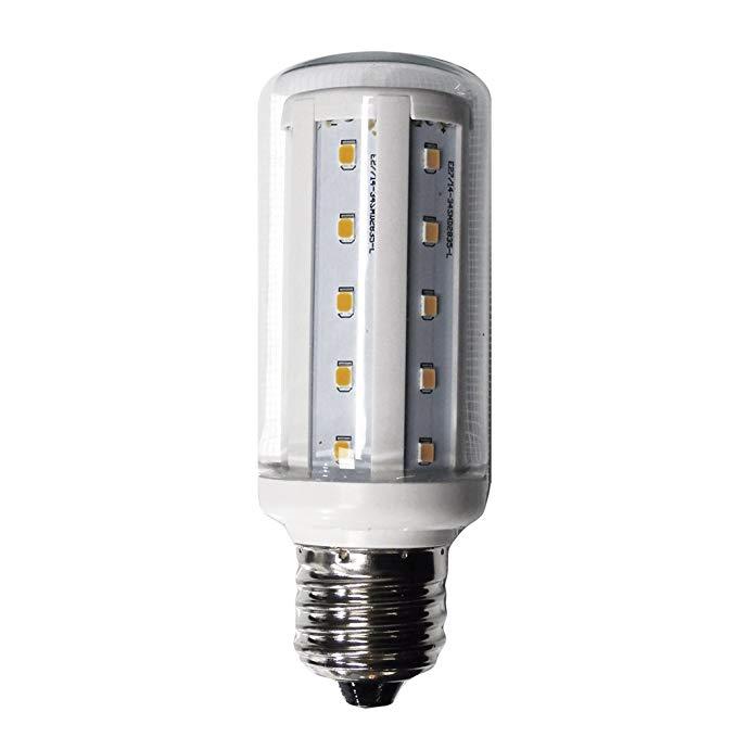 Bóng đèn LED ngô mini chiếu sáng 50 K E 27,6 W, trắng, 46 x 106 mm