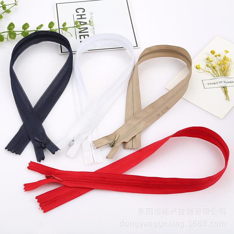 Số 3 vải vô hình dây kéo một loạt các màu sắc tại chỗ nhỏ hàng loạt váy gối của phụ nữ dây kéo nguồn