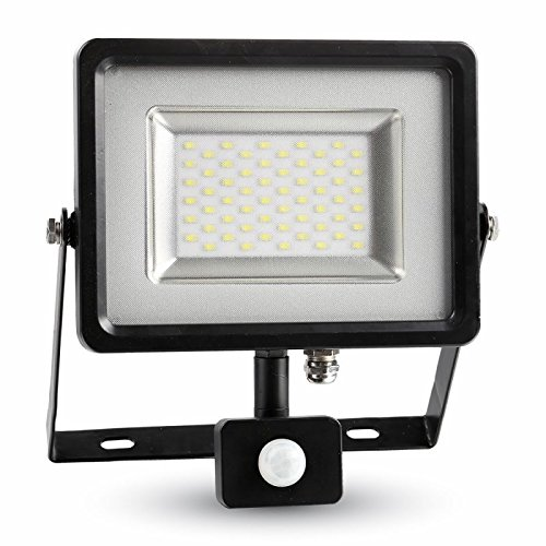 V-TAC 5716 A, đèn LED chiếu sáng, kim loại, 30 W, tích hợp, đen