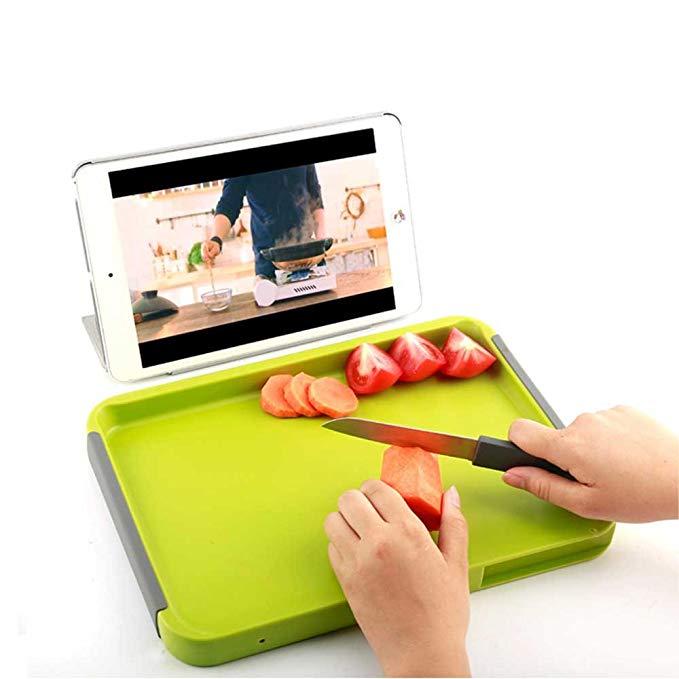 Hi Wo Hiho đôi dao rò rỉ bằng chứng nước trái cây cắt đĩa trái cây nhựa nhà bé thớt du lịch bé thực