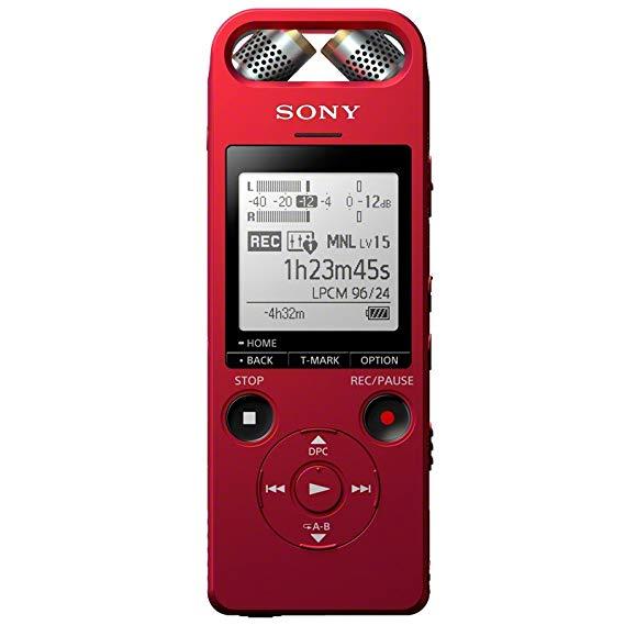 Sony Sony ICD-SX2000RCCN Đầu ghi âm kỹ thuật số độ phân giải cao Hi-Res Sony 16GB Red