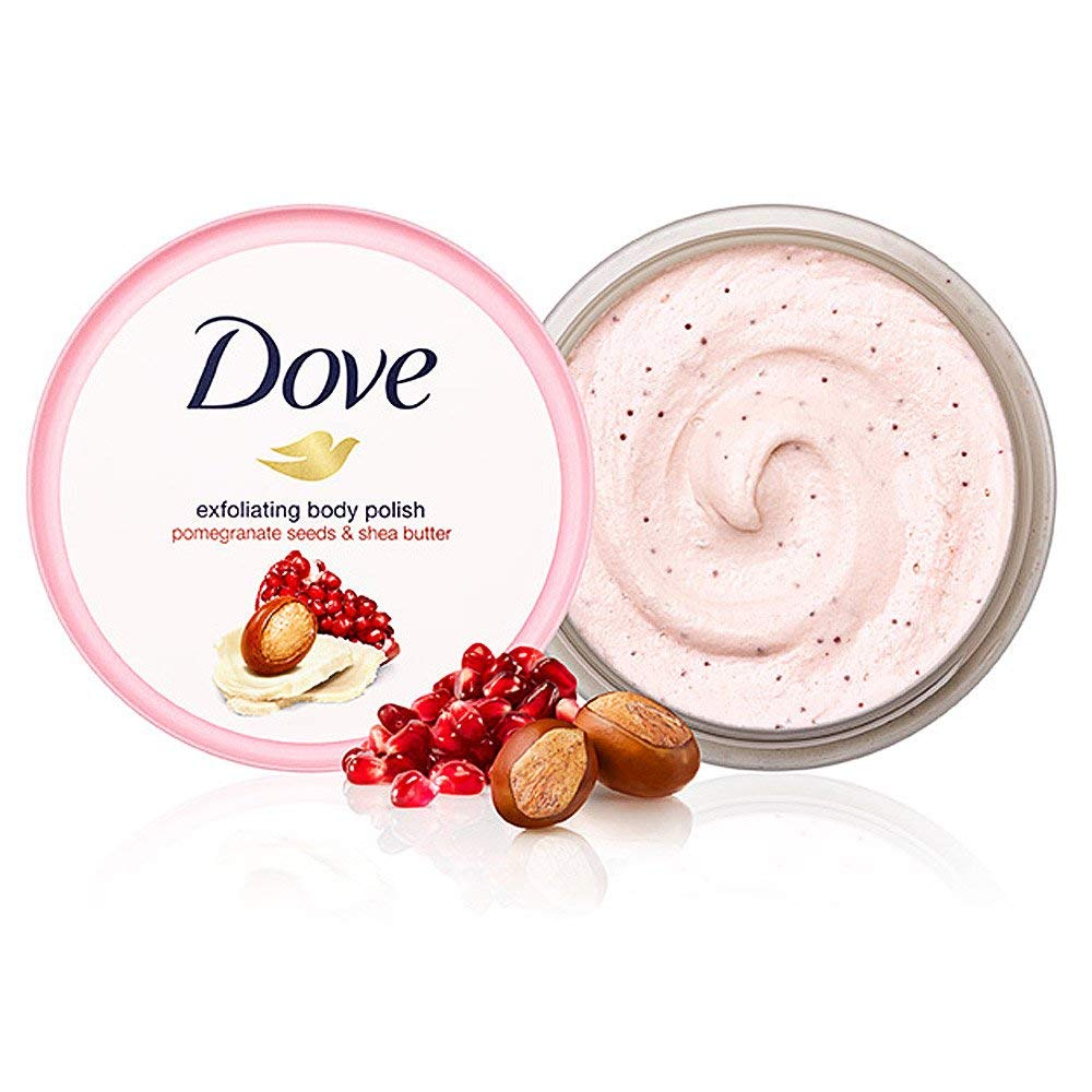 Dove hạt lựu và sữa xức dầu cho 298g*2