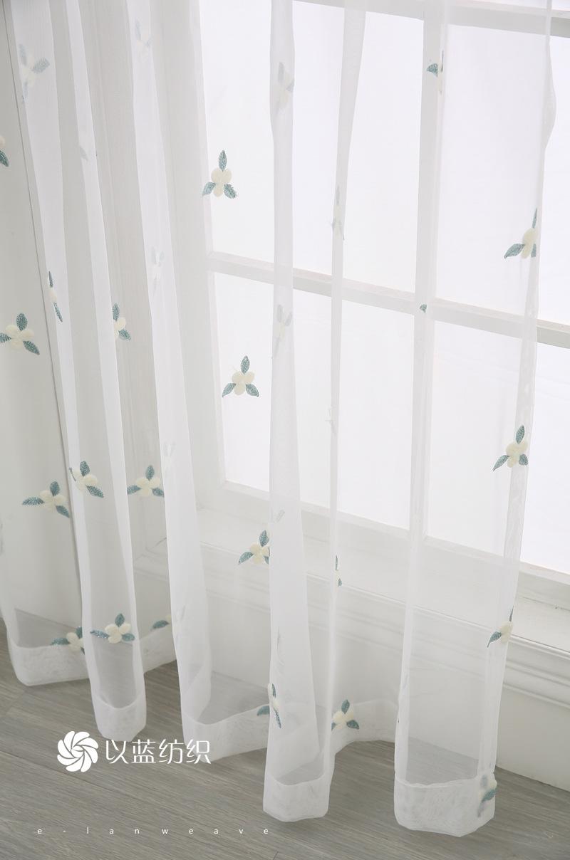 Nhà sản xuất rèm cửa phòng ngủ, phòng khách hoa tam giác thêu thùa sợi chống bụi màn lưới thép bán b