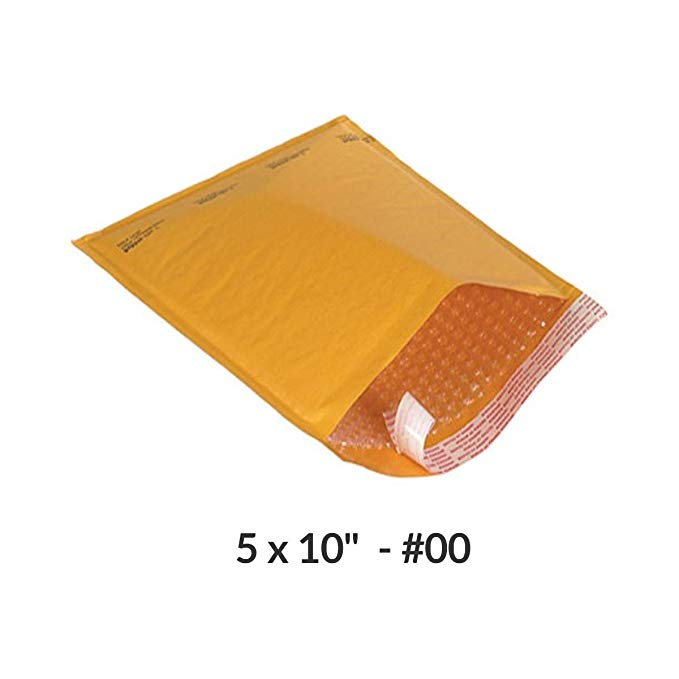 Kraft Bubbles mailer GREAT AS College Supplies 12.7 x 25.4 cm # 00 - Một gói 20