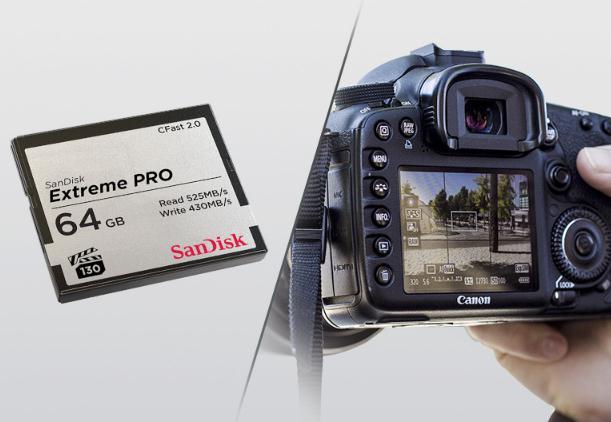 SanDisk chính phẩm flash di CF 64G bộ nhớ flash máy ảnh máy quay tốc độ cao CFAST2.0 lưu SDCFSP thẻ