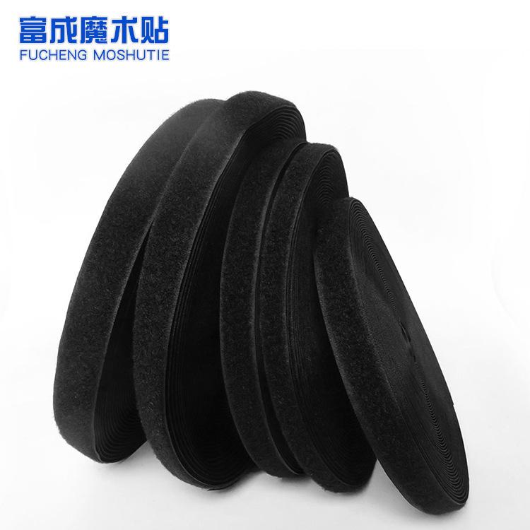 Velcro các nhà sản xuất tùy chỉnh bán buôn màu đen và trắng nylon Velcro dây đeo Mẹ với tháp khóa ny