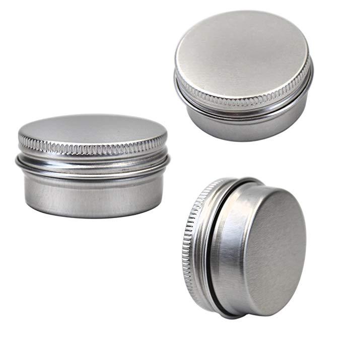 M-Aimee 14.17 gram nhôm nhỏ thiếc có thể vít bìa vòng bể chứa, mỹ phẩm mẫu kim loại có thể rỗng cont