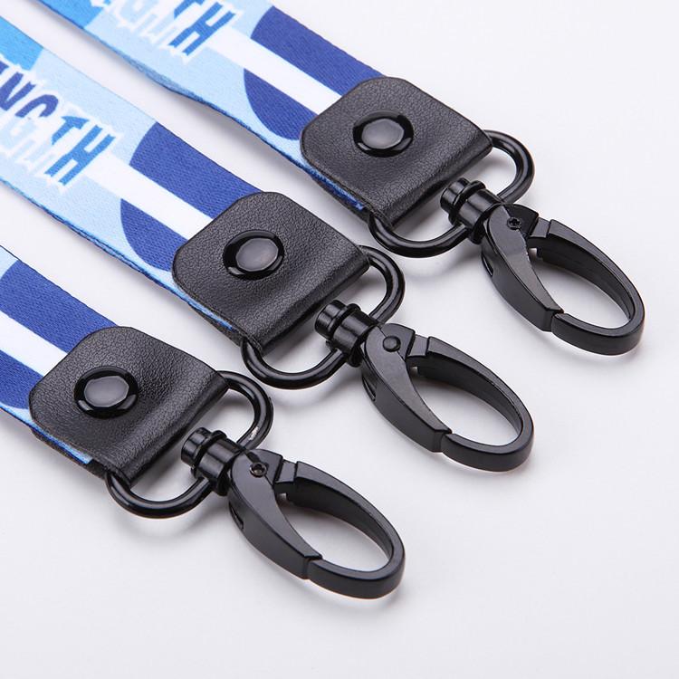Polyester chuyển nhiệt thẻ làm việc treo cổ dây tùy chỉnh in logo tùy chỉnh hai-trong-một điện thoại