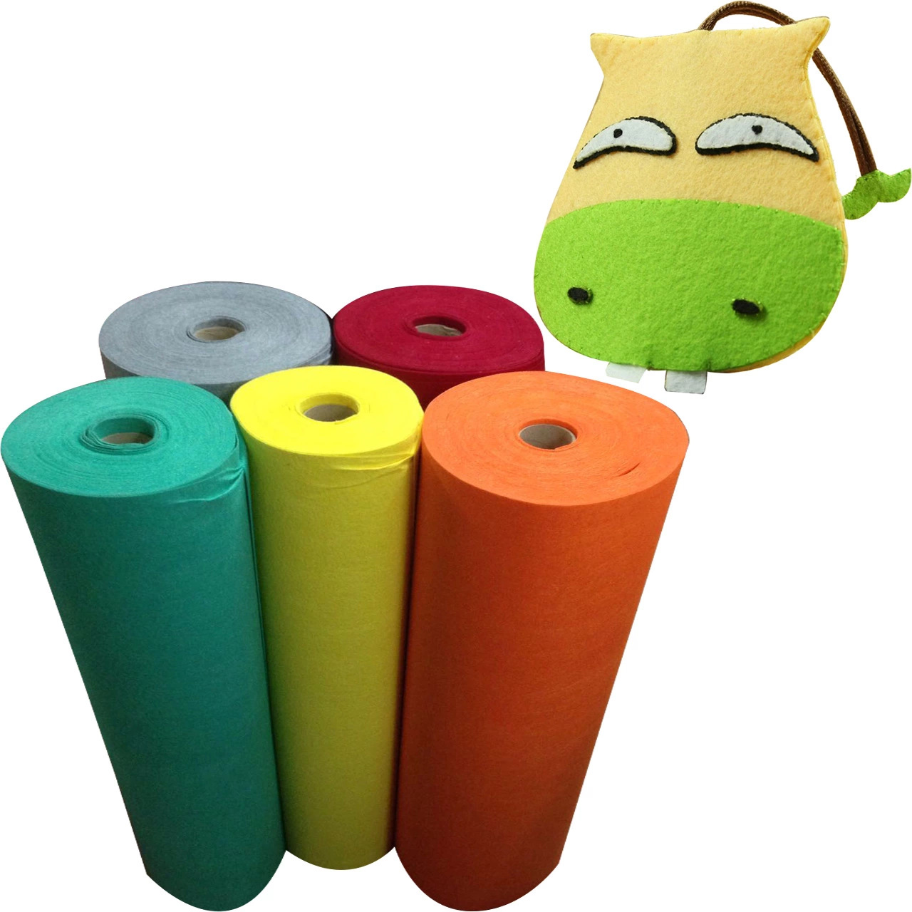 Nhà máy trực tiếp màu 2 MÉT needled không dệt vải nhung cảm thấy không dệt của nhãn hiệu DIY hành lý