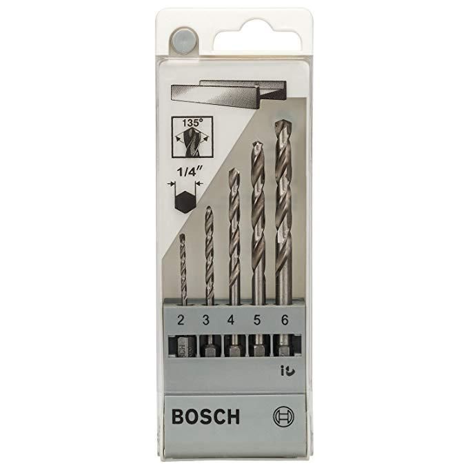 BOSCH Xử lý hình lục giác Bosch Máy khoan xoắn tốc độ cao 5 gói (2-3-4-5-6)