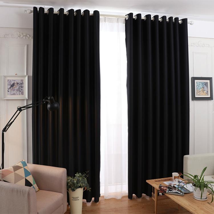 Keqiao nhà máy trực tiếp rèm cửa màu rắn màn rèm cửa hỗ trợ tùy chỉnh tại chỗ bán buôn rèm vải hoàn