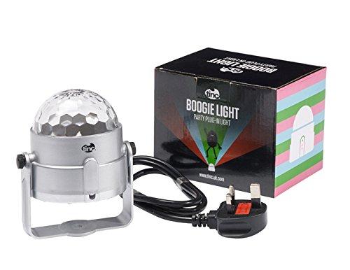 Tinc BOOGIE nguồn điện-powered mini disco DJ stage 3 Wát RGB LED âm thanh ánh sáng kích hoạt và xoay