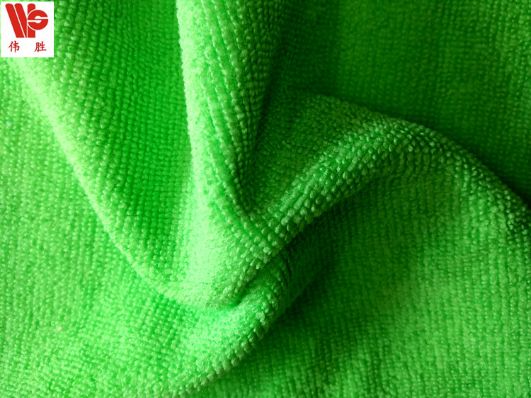 Nhà máy trực tiếp sợi nhỏ terry vải thấm hút mạnh mẽ vải terry Polyester hai mặt làm sạch vải terry