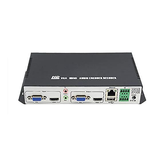 Tương tự như 3D T8000HVD độ trễ thấp HD HDMI + VGA H.264 bộ mã hóa / giải mã