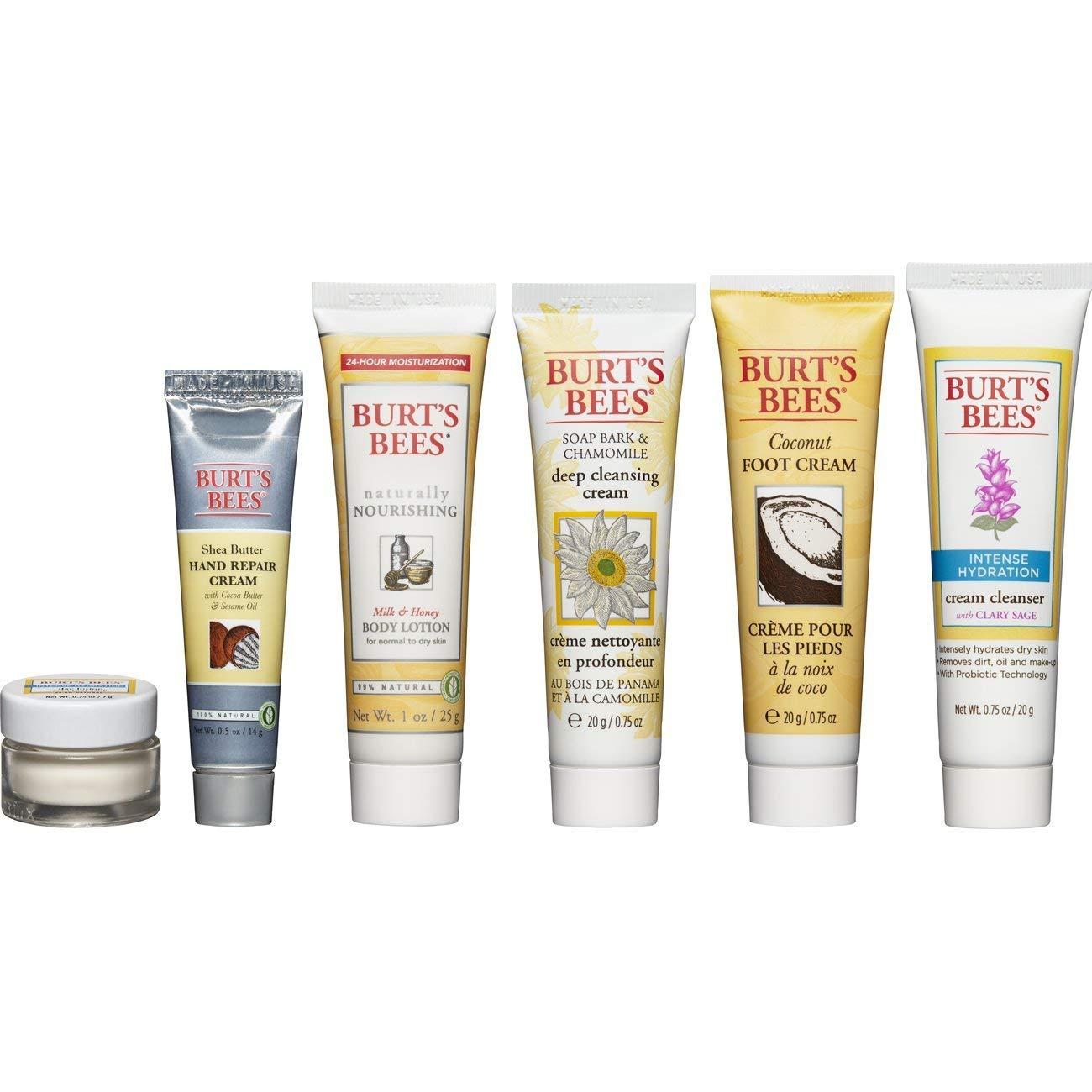 Burt's Bees con ong nhỏ Fabulous mini du lịch sử dụng sản phẩm du lịch bộ 6 điều