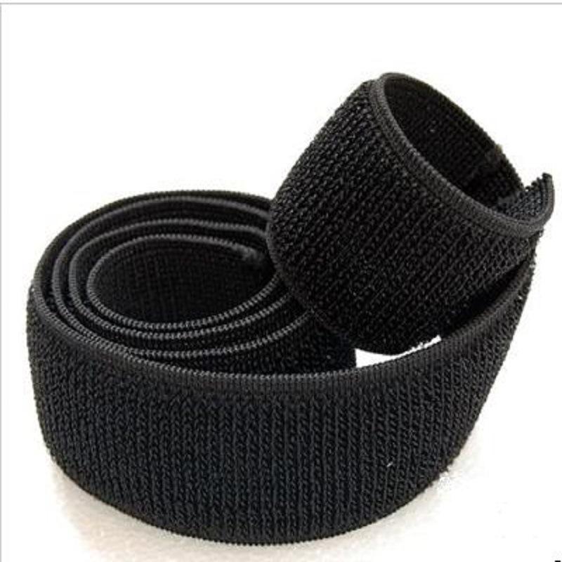 Nhà máy cung cấp trực tiếp 2-10 cm nylon màu đen đàn hồi velcro đàn hồi chất lượng cao giá lớn tuyệt