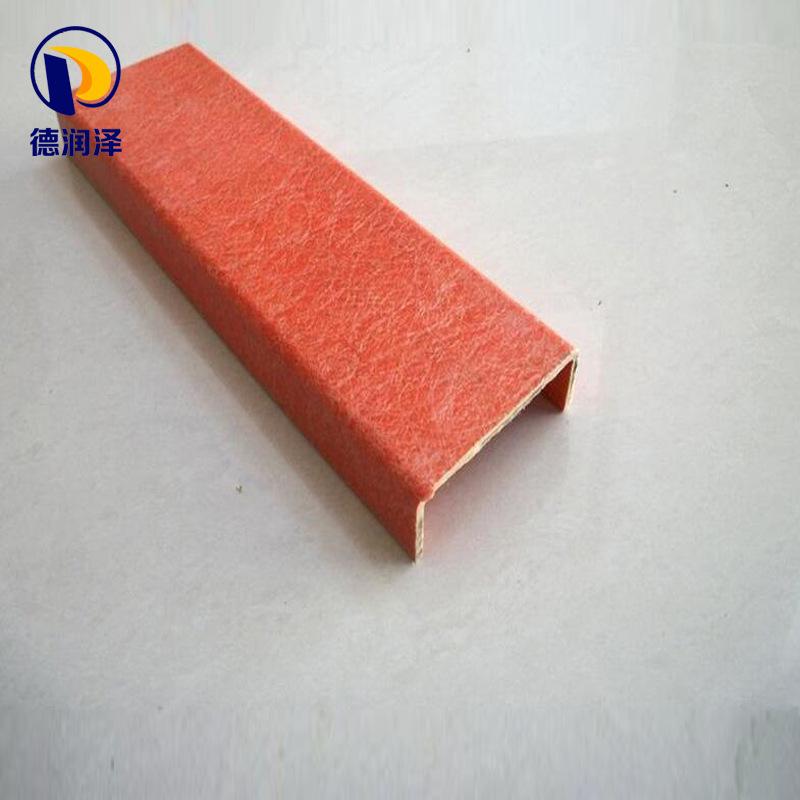 Chuyên sản xuất FRP pultruded hồ sơ 200 * 100 * 9 mô hình khác nhau FRP kênh thép