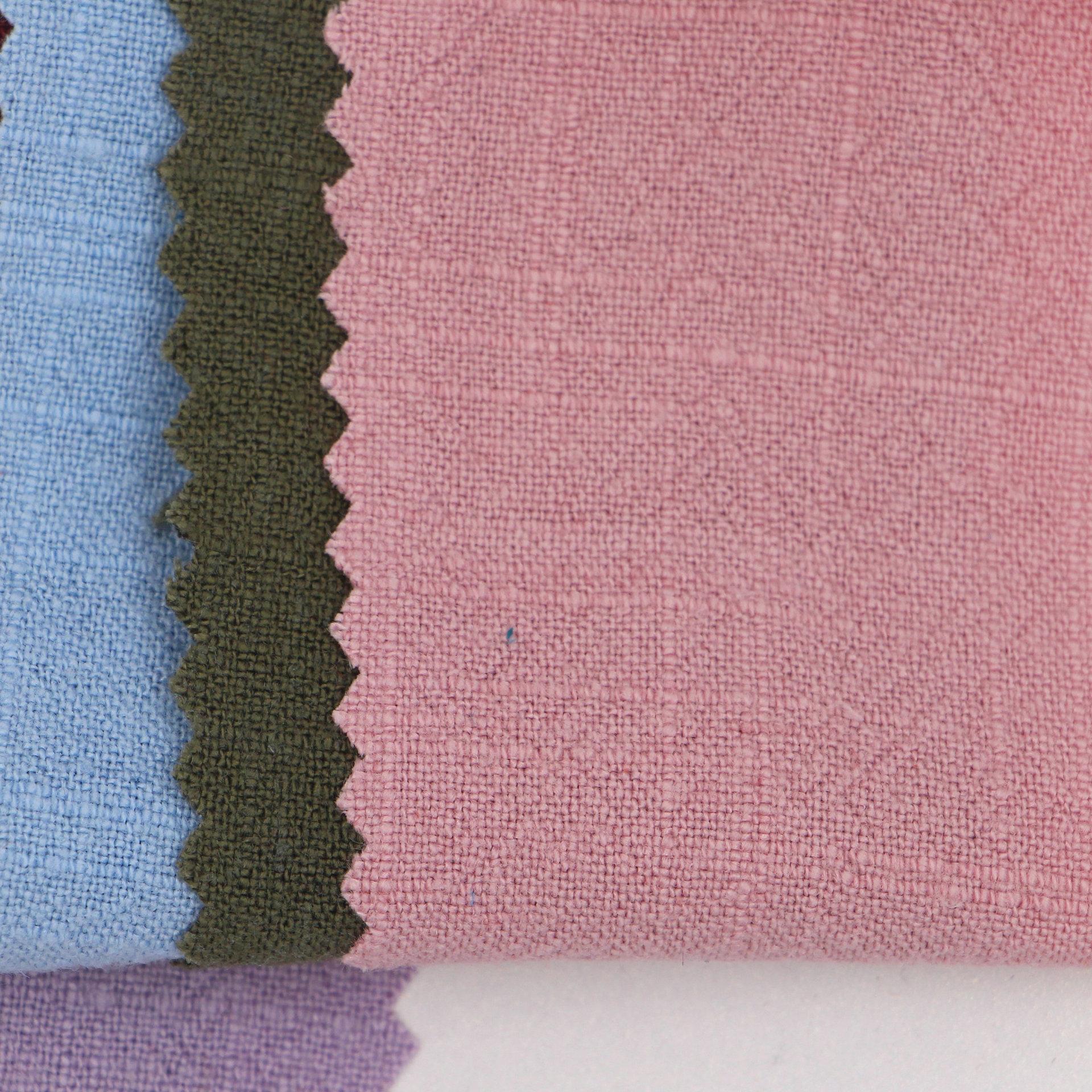 Bông và vải lanh pha trộn nước có thể giặt Man cotton linen dính tre vải rửa ramie linen dính quần á