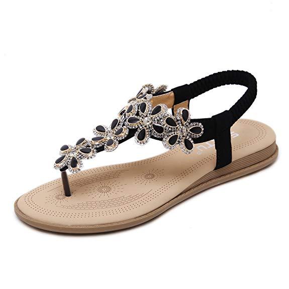 Giày xỏ ngón nữ đính hoa Meeshine