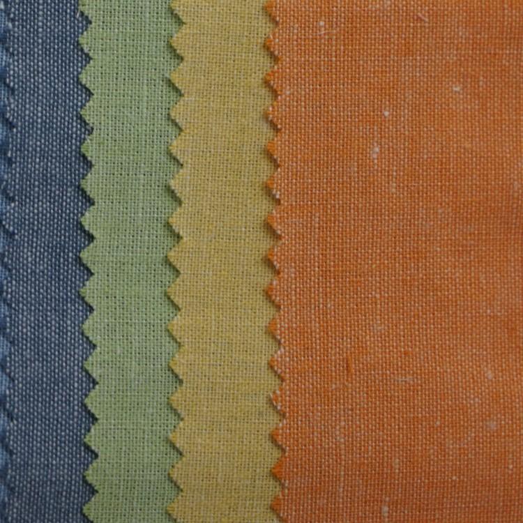 Sợi nhuộm vải gai dầu sợi gai dầu 30 * 70 bông và vải lanh pha trộn mùa hè phần mỏng áo sơ mi đồng b