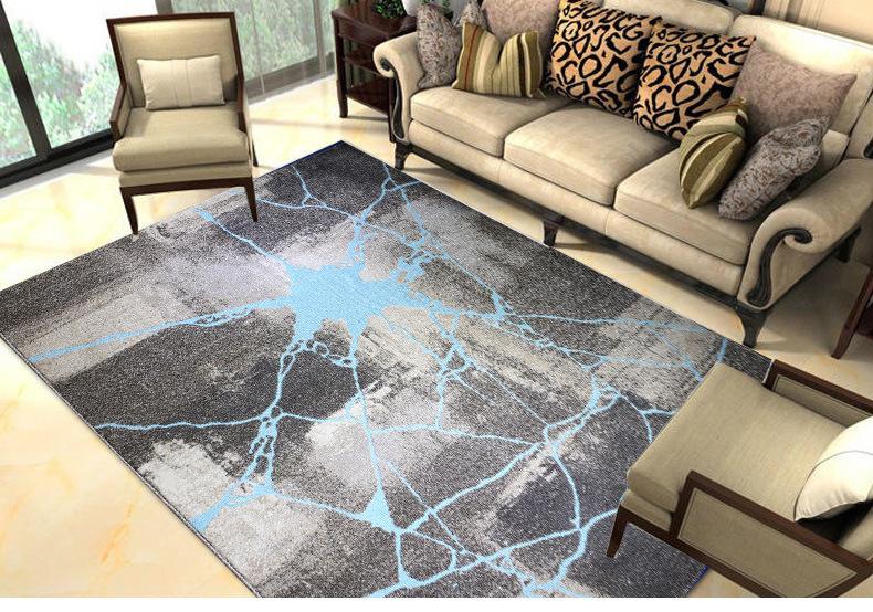 Tấm thảm mới 2018 gia dụng ghế kĩ trà đen trừu tượng mã hóa mềm dày của Yoga.