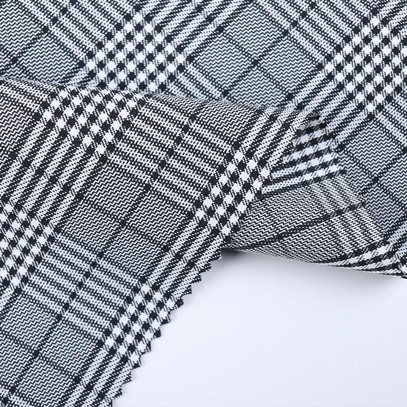 Nhà máy trực tiếp polyester vải kẻ sọc vải mùa xuân và mùa hè căng áo sơ mi may mặc vải áo của phụ n
