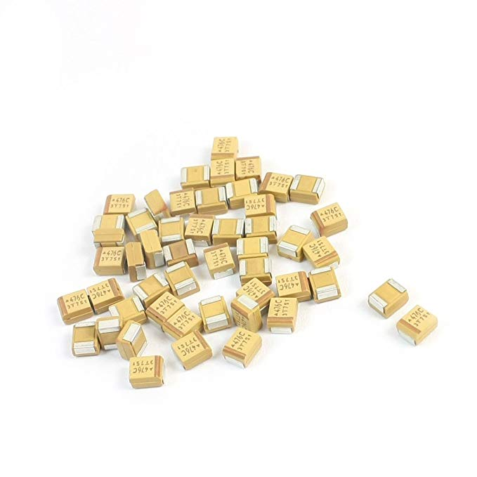 Sourcingmap a14041500ux0237 4 X 3 X 2 mm 47 μf 16 V 3528 B Bề mặt TYPE MOUNT Tantalum Chip Tụ - đa m