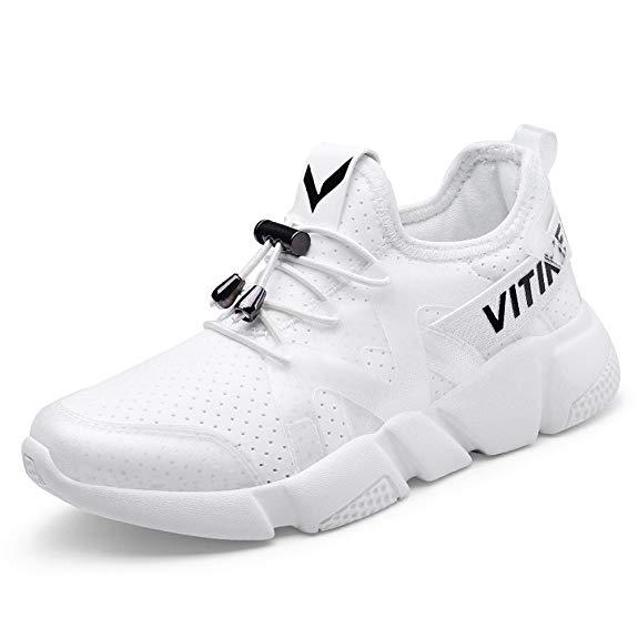 Giày da thể thao trẻ em trắng WETIKE