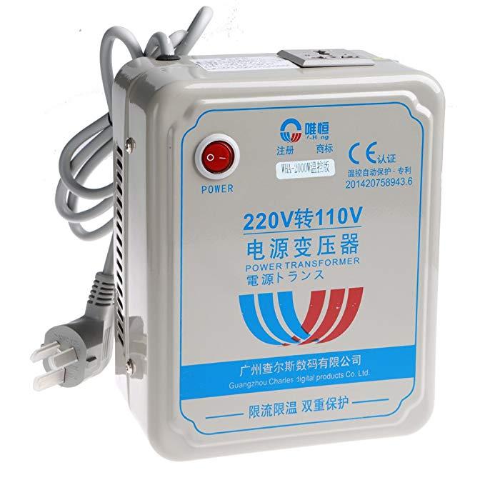 Weiheng 2000W biến áp 220v đến 110v wha-2000va chân điện Nhật Bản nồi cơm điện biến áp với kiểm soát