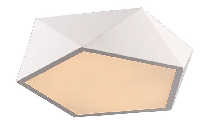 Mimax chiếu sáng poliedrum - ánh sáng mặt dây trần, nhôm, 18 W, 42 X 42 X 11 cm, trắng