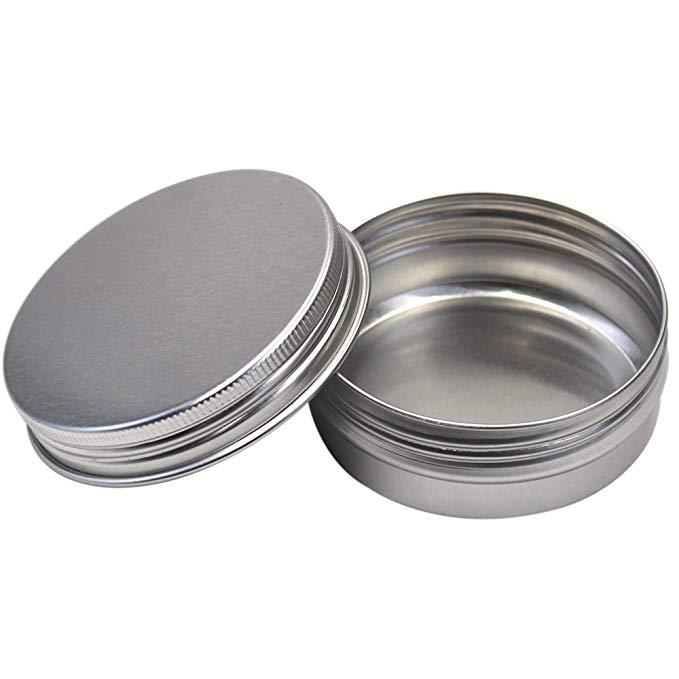 M-Aimee 56,8 ml nhôm thiếc có thể vít nắp vòng hộp lưu trữ, mỹ phẩm mẫu kim loại có thể rỗng contain