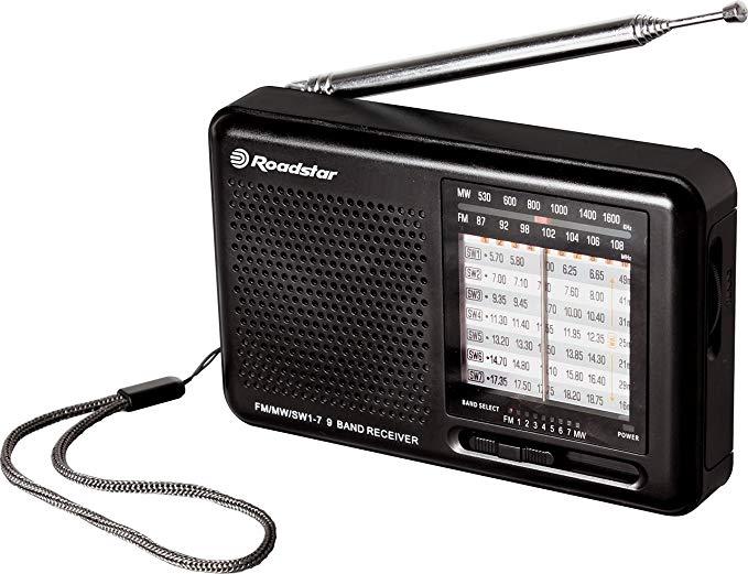 Roadstar TRA - 2989 Đài phát thanh thu thế giới, 10 W đen