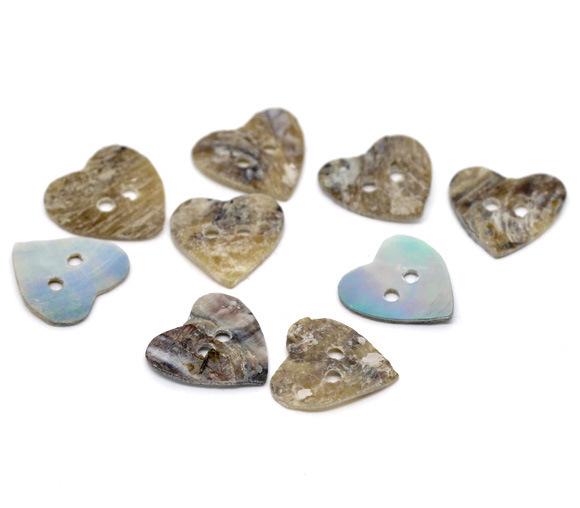 Nhà sản xuất cung cấp màu sắc Tự Nhiên peach tim hai lỗ shell nút Tinh Khiết vỏ tự nhiên nút diy tra