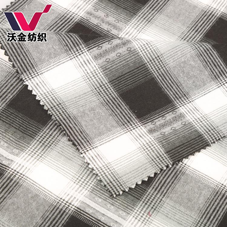 Vải Jacquard nhà máy trực tiếp cotton mặc hai lớp lưới màu dệt kẻ sọc vải jacquard vải khăn vải bán