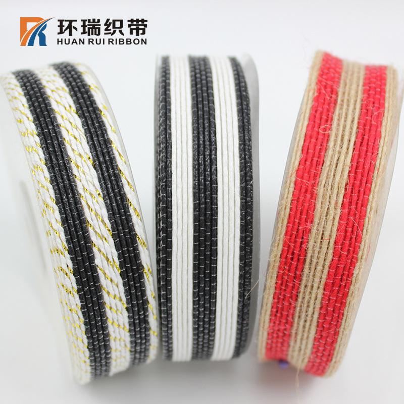 Huan Rui nhà máy trực tiếp 2.5 CM wax rope bông sợi dây thừng ribbon hành lý hat phụ kiện trang sức
