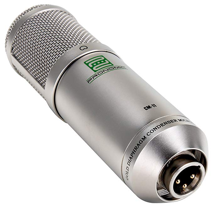 Pronomic cm-100S studio âm thanh lớn phim microphone XLR condenser microphone (với microphone đứng,