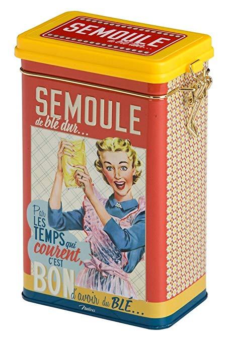 Người bản địa 510220 IT CÓ THỂ CÓ LỚN bột kim loại semolina hộp nhiều màu 8,5 x 13 x 18 cm