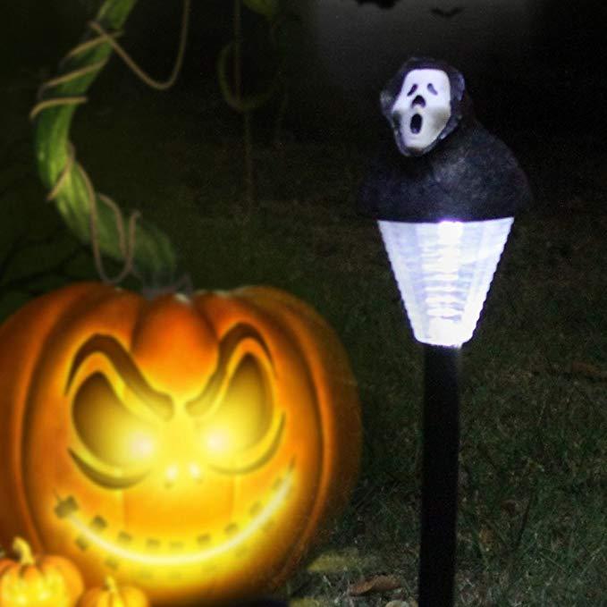 Docooler 2 đóng gói Halloween Năng Lượng Mặt Trời Lawn Ánh Sáng Bí Ngô / GHOST Ngoài Trời Cảnh Trang